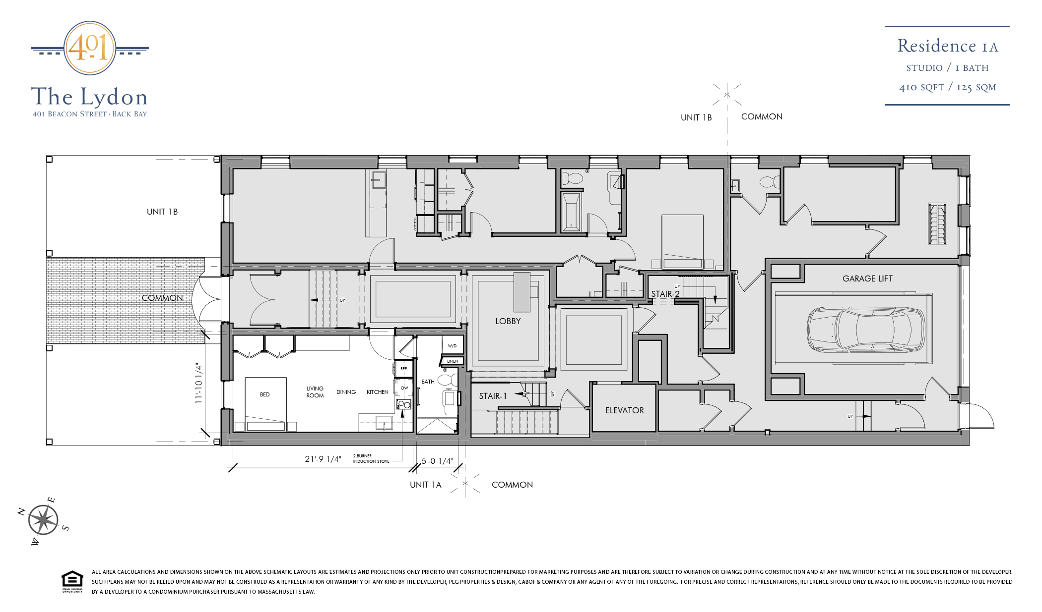 The lydon 401 beacon street ingeniously designed layout for Floor plan agreement